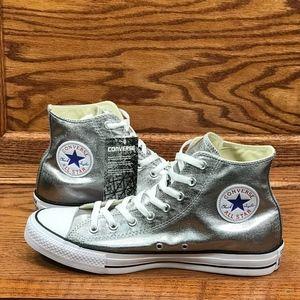 Converse CTAS Hi Gunmetal White Black Shoes